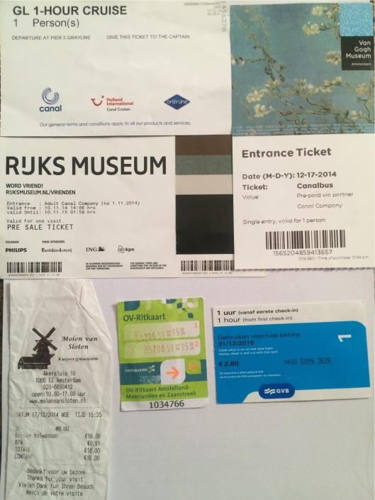 tiket-tiket di Amsterdam
